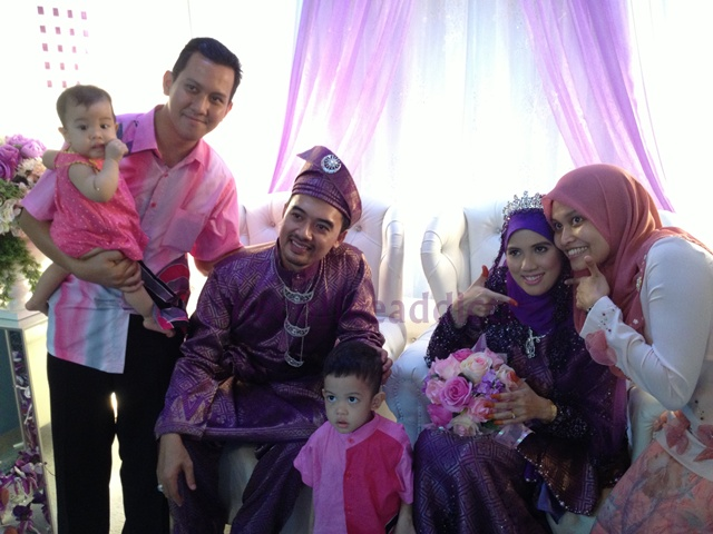 Us with pengantin. The only picture that I have in my camera roll...